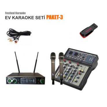 Ev Karaoke Seti Paket 3